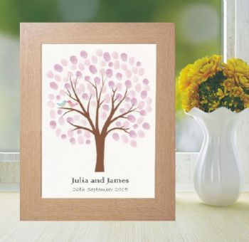 Wedding Fingerprint Tree - Personalised Alternative To A Guestbook